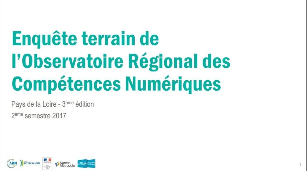 Enquête ORCN 2017S2 Pays de la Loire