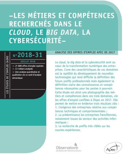 Les métiers et compétences cadres dans le cloud, le big data et la cybersécurité : les profils les plus recherchés