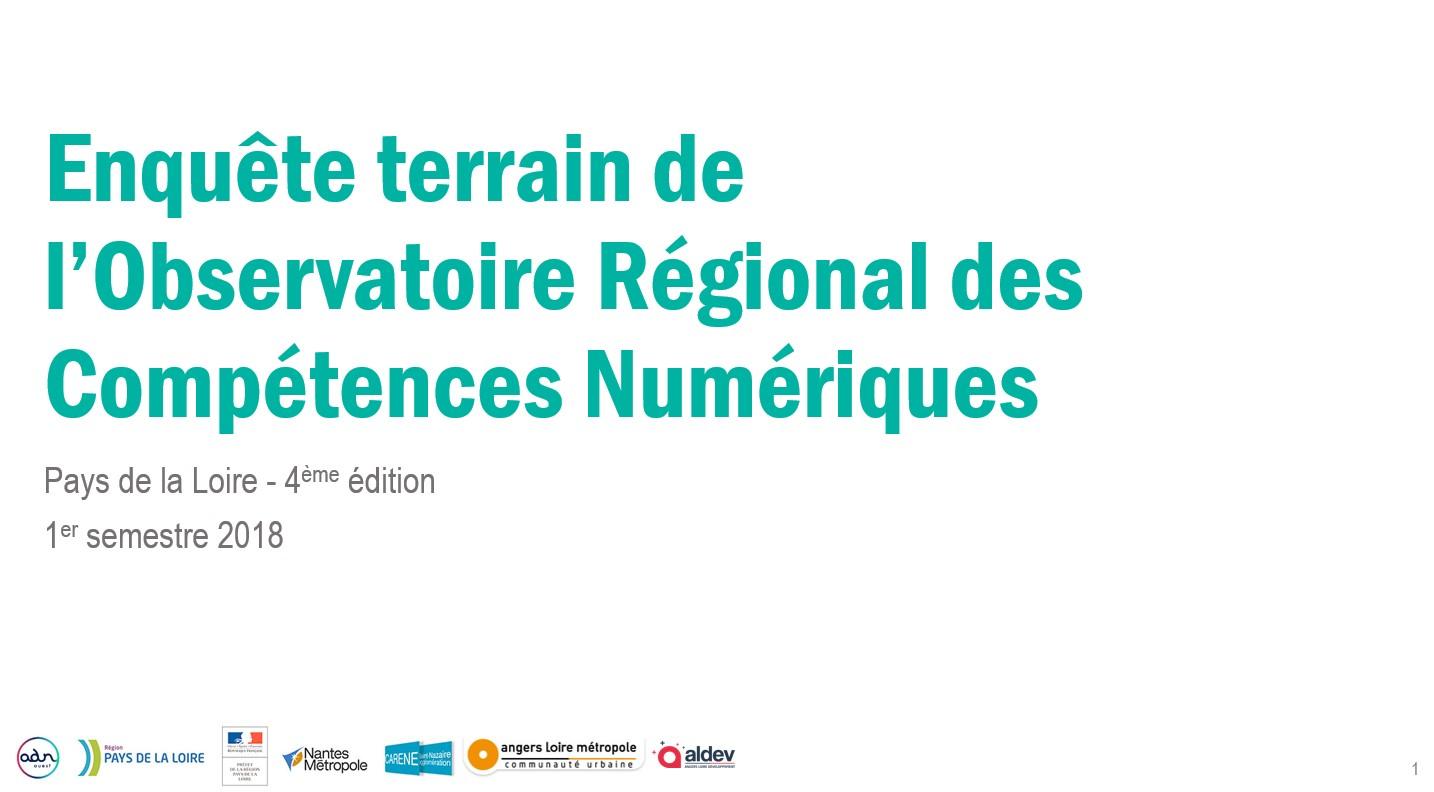 Enquête ORCN 2018-S1 Pays de la Loire
